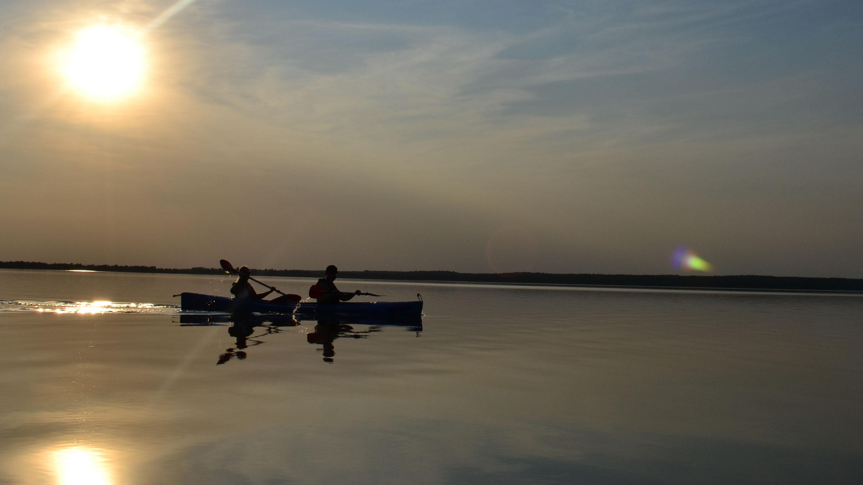 Sonnenuntergang auf dem Steinhuder Meer